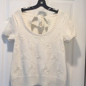 Anthropologie Moth cream sweater top